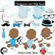 Baby Boy Clipart, Nursery Clipart, African American Baby Clip Art, AMB-1815