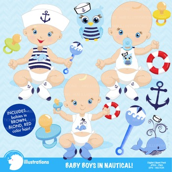 Baby Boy Clipart, Nursery Clipart, Baby Clip Art, AMB-912
