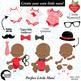 Baby Boy Clipart, Nursery Clipart, Baby Clip Art, African