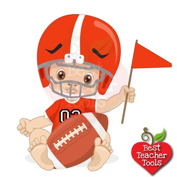 Baby Boy Clipart Nursery Clipart Football Clipart Sports Clip Art Amb 2428