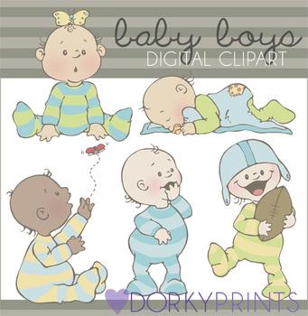 2c37876d9 Baby Boy Digital Clip Art by Dorky Doodles