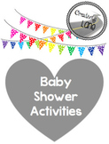 Baby Boy Elephant Shower- Grey and Light Blue