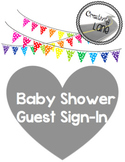 Baby Boy Elephant-themed Shower Guest Sign-In PDF