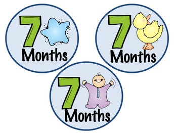 Baby Boy Monthly Stickers