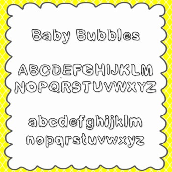 Baby Bubbles Font {personal and commercial use; no license needed}