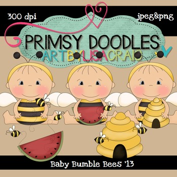 Baby Bumble Bees 300 dpi clipart