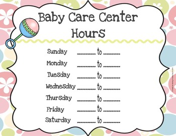 Dramatic Play - Baby Care Center