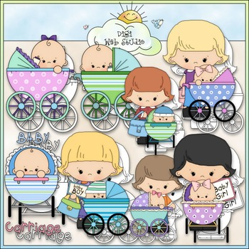 Baby Carriage 1 - Commercial Use Clip Art & Black & White Images