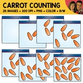 Baby Carrot Snack Counting Scene Clipart