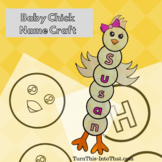 Baby Chick Name Craft Activity - Easter & Spring Word Craft - Holiday