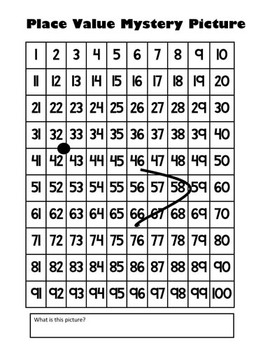 Baby Chick Place Value Math Mystery Picture - 8.5x11 - Good For Spring & Easter