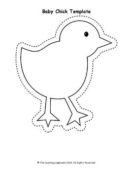 baby chick template by the learning cupboard teachers pay teachers