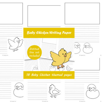 Baby Chicken Writing Paper