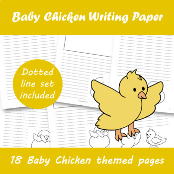 Baby Chicken Writing Paper