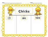 Chicks Graphic Organizer