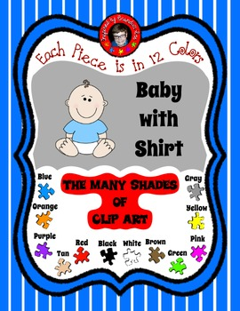 Baby Clip Art ~ 12 different T-Shirts ~ coordinates with t