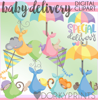 Baby Clip Art - Baby Delivery