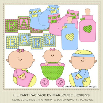 Baby 1 Clip Art Set 1