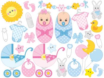 41f1e60c9947 Baby Clipart - Digital Vector Newborn