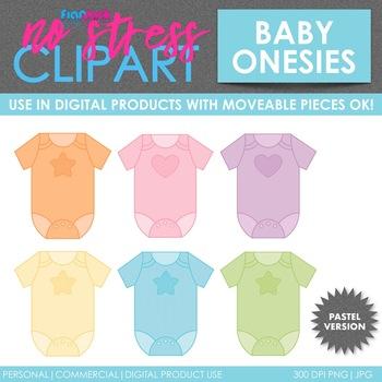 Baby Clothes Pastel Clip Art (Digital Use Ok!)
