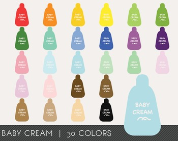 Baby Cream Digital Clipart, Baby Cream Graphics, Baby Cream PNG