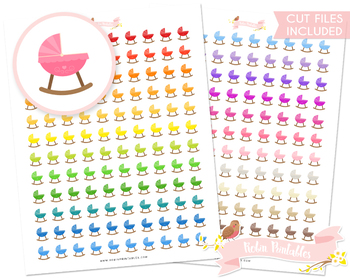 Baby Crib Printable Planner Stickers
