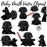 Baby Darth Vader Clipart || Starwars clipart || Mrs C's Digital Art