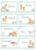 Baby Deer Watercolor Name Tags