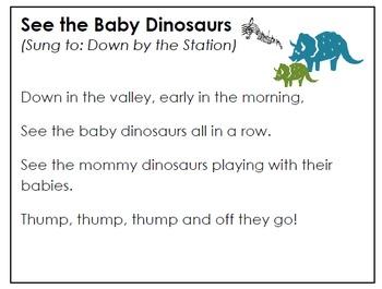 Baby Dinosaur Song (Parent Printable)