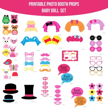 Baby Doll Printable Photo Booth Prop Set