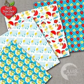 Baby Duck Clipart & Digital Papers Combo Bundle {Best Teacher Tools} AMB-1721