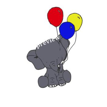 Baby Elephant Clip Art Freebie!