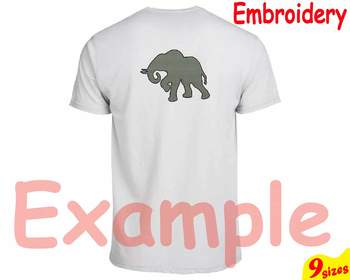 Baby Elephant jungle animal Embroidery Machine digital file 4x4 5x7 hoop 79b