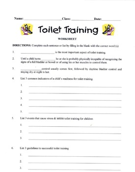 Toilet Training Lesson