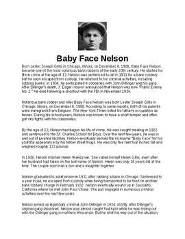 Baby Face Nelson Article and Assignment