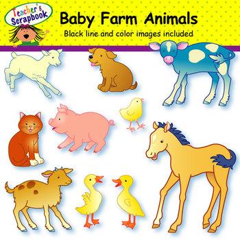 Baby Farm Animals Clip Art