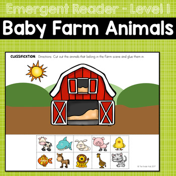 Baby Farm Animals Emergent Reader
