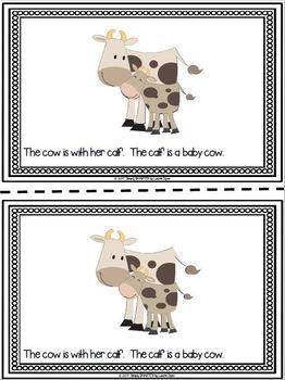 Baby Farm Animals Emergent Reader AND Interactive Activities