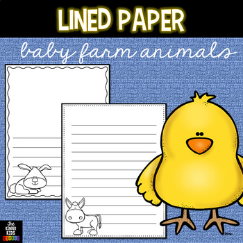 Baby Farm Animals Writing Pages