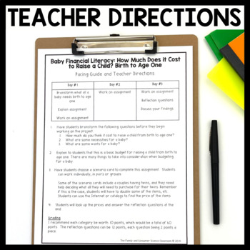 Baby Financial Literacy: How Much Does It Cost {Google Drive Ready}