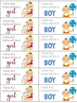 Baby Gender Prediction Mini Unit and Party Activities for your class!