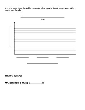 Baby Gender Reveal Data Collection and Graphing Activity