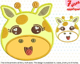 Baby Giraffe Applique Designs for Embroidery Japan cartoon cute Emoji kawaii 13a
