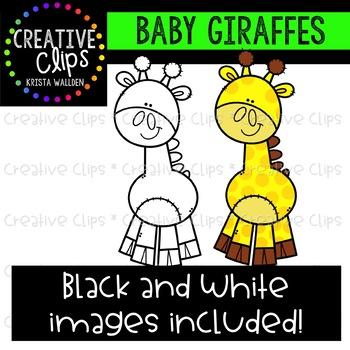 Baby Giraffe Clipart {Creative Clips Clipart}