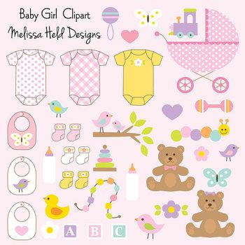 Clipart: Baby Girl Clip Art