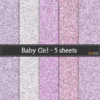 Baby Girl Glitter Paper