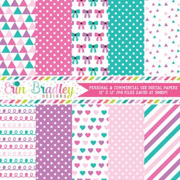 Baby Girl Pinks Digital Paper Pack