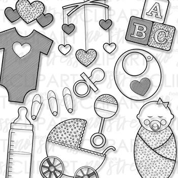 Baby Girls Clip Art (Digital Use Ok!)