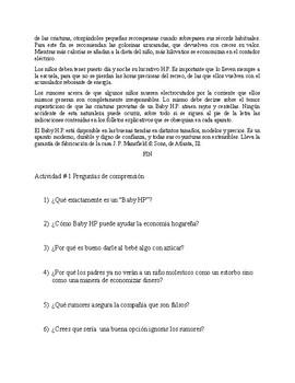 Baby HP by Juan José Arreola (Spanish short story)