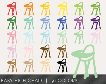 Baby High Chair Digital Clipart, Baby High Chair Graphics, Baby High Chair PNG